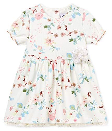 Petit Bateau Barriere Robe, Multicolore (Marshmallow/Multico 01), Nouveau-né (Taille Fabricant: 3 Mois) Bébé Fille