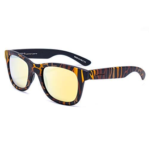italia independent 0090-ZEF-044 Gafas de sol, Naranja, 50 Unisex