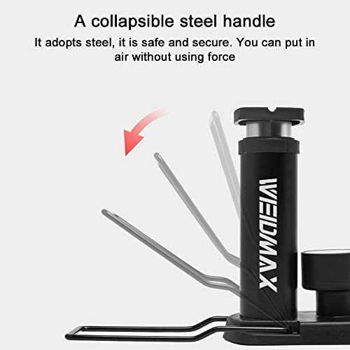 Bike Pump, WEIDMAX Portable Mini Tire Pump Foot Activated Pump Tyre Inflator with Pressure Gauge Inflation Needle and Inflatable Device Valve Compatible Universal Presta and Schrader Valve