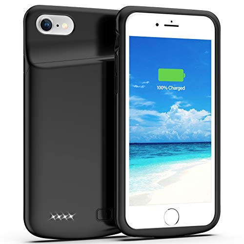 Battery Case for iPhone 8/7/SE 2020(2nd Generation), 4500mAh Charging Case Charger Case for iPhone 8/7/SE 2020(2nd Generation) (4.7 inch) (Black)