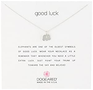"""Good Luck"" 16"" Elephant Pendant Necklace"