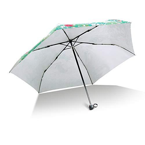 6 ossa estate ombreggiatura protezione termica protezione della pelle conigli abbronzanti comodo da trasportare ombrello pesante pioggia leggera durata con coperchio ombrello pieghevole Ombrello