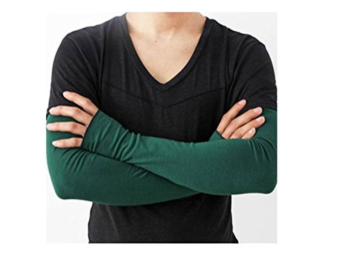 ショットオーバーフロー役職日よけ手袋 緑 グレー