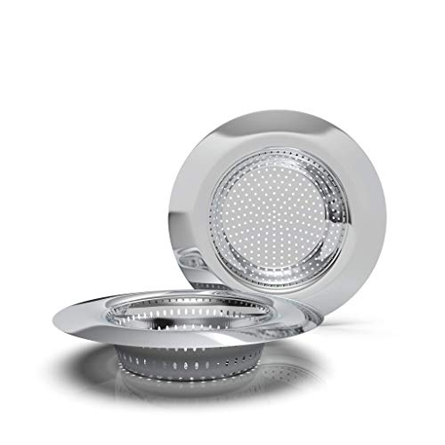 Rietlow Abflusssieb 2er Set (XS Ø5.5cm) - Universal Waschbecken Sieb aus gehärtetem Stahl - Rostfreies Spülbecken Sieb mit optimierter Passform - Nutzbar auch als Haarsieb Dusche