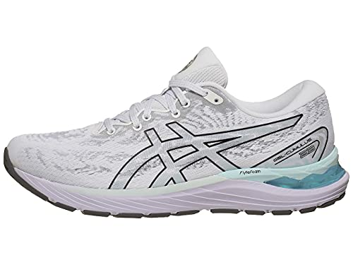 ASICS Women's Gel-Cumulus 23 Running Shoes, 7M, White/Black
