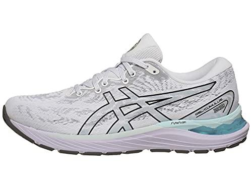 ASICS Women's Gel-Cumulus 23 Running Shoes, 7.5M, White/Black