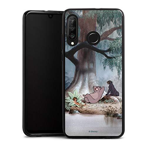 DeinDesign Silikon Hülle kompatibel mit Huawei P30 Lite New Edition Case schwarz Handyhülle Mogli Balu Dschungelbuch