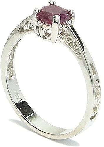 新宿銀の蔵 ルビー ボリュームプラチナコート シルバー 925 リング 10.5号 レディース リング Ruby 女性用 指輪 パワーストーン 天然石