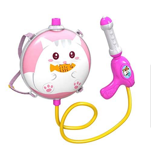 FENGLI Niños Dibujos Animados Animal Mochila Agua Pistola de Agua Juego de Verano al Aire Libre Agua Blaster para niños (Color : Pink)