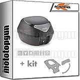 kappa maleta k29nt 29 lt + portaequipaje monolock compatible con yamaha n max...