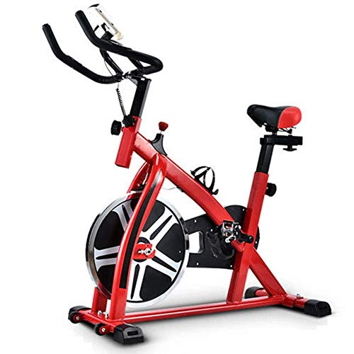 YAMMY Bicycles Static for The Home Spinning Bicycle, Vertical Bicycle with LCD Panel, Pulsometer, Variable Resistance, Height Adjustable, Ind(Exercise Bikes)