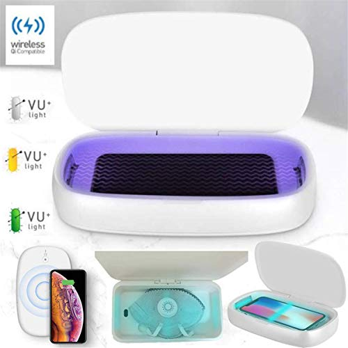 WLMGWRXB UV-gsm-sterilisator en draadloos opladen, aromatherapie-functie voor telefoon, smartwatches, koptelefoon enz.