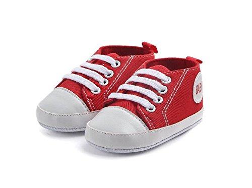 [ジェイフリー] かわいい ファーストシューズ キッズ ベビー 子供 シューズ 靴 幼児 軽い 履きやすい 歩きやすい 男の子 女の子 歩行練習 怪我 防止 (13cm, レッド)