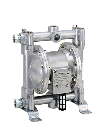 Fuelworks Double Diaphragm Transfer Pump 1/2' Nitrile/NBR/Buna-N - 12GPM / 45LPM Heavy Duty Aluminium Air Operated Pneumatic for Diesel, Grease, Kerosene & Oil