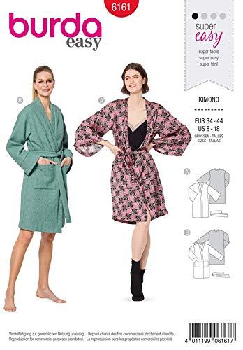 Burda 6161 Schnittmuster Kimono (Damen, Gr. 34-44) Level 1 super Easy