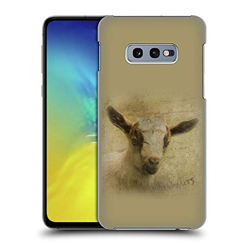Head Case Designs Officially Licensed Simone Gatterwe Baby Goat Wildlife Hard Back Case Compatible with Samsung Galaxy S10e