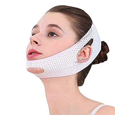 Niikee Face V Shaper Facial Slimming Bandage Relaxation Lift Up Belt Shape Lift Reduce Double Chin Face Thining Band Massage