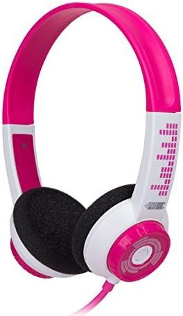 FSL Protec Kids Headphones with Adjustable Volume Limiting (Pink)