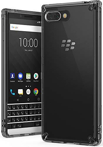 Ringke BlackBerry KEY2 Hülle, [Fusion] Transparent PC Rückseite Handyhülle Cover [Verbesserter Schutz der Ecken] Leichte TPU Stoßfänger Schutzhülle - Smoke Black