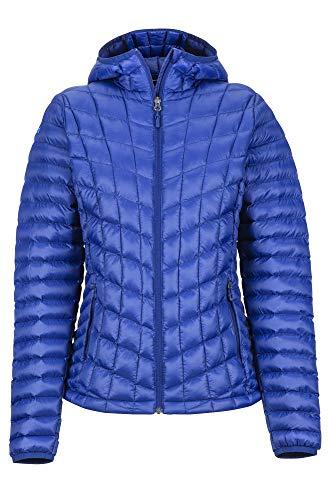 Marmot Wm's Featherless Hoody Veste Isolée, Manteau d'extérieur Chaud, Anorak déperlant, Coupe-Vent Femme Royal Night FR: XS (Taille Fabricant: XS)