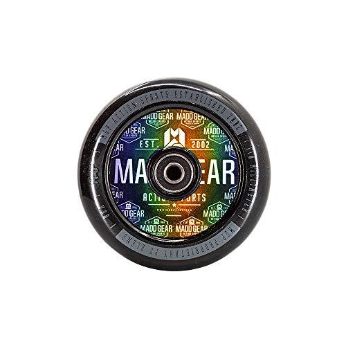 MADD MGP Gear Stunt - Ruedas de repuesto para scooter (110 mm, 100 mm, ABEC 7, ABEC 9, color negro, 110 mm)
