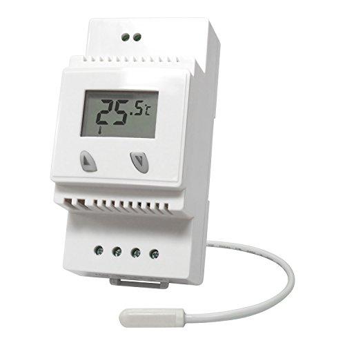 Termostato elettronico LCD DIN-Rail (guida DIN)