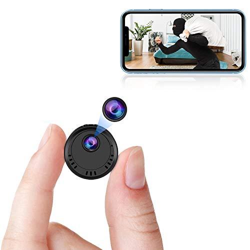 VIONMIO Mini Spy Camera WiFi, 1080p HD Spy Camera Wireless Hidden Small Secret Nanny Cam with Super...
