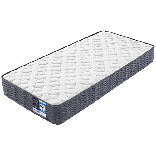 Costoffs 3FT Single Mattress Orthopedic Pocket Sprung Mattress Medium Firm Mattress with Breathable Knitted Fabric for Bedroom/Dormitory 90x190x20cm