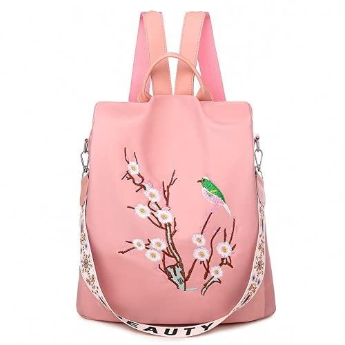 YIXIN Mochila femenina para mujer bordada mochila casual mochila para adolescentes niñas mochila