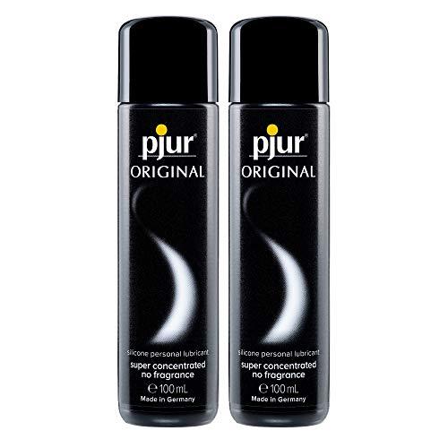pjur ORIGINAL - Premium Silikon-Gleitgel - lange Gleitfähigkeit ohne zu kleben - sehr ergiebig und für Kondome geeignet - 100ml (2er Pack)