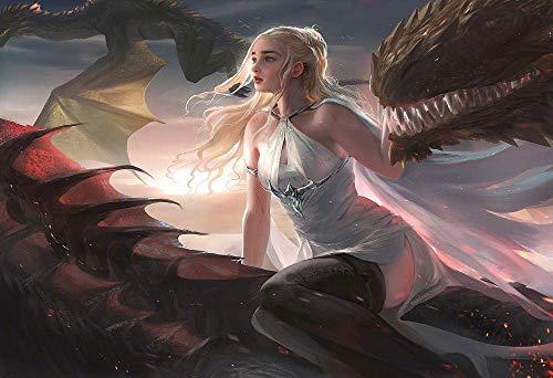 Desconocido 1000 Piezas Puzzle Creativo Puzzle Adultos Trono Dragón Madre Dragón Cartel Película San Valentín Chico Chica Juego Creativo Rompecabezas educativos Juegos de