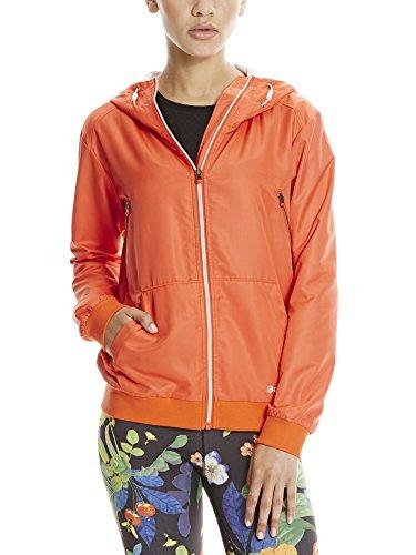 Bench Damen Lightweight Bomber Sportsweatshirt, Orange (Orange OR058), 38 (Herstellergröße: M)