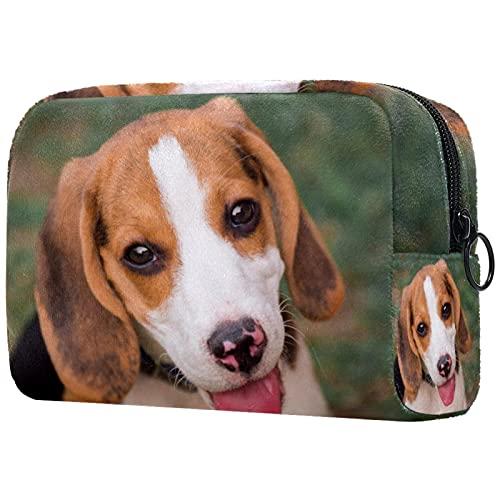 Bolsa para Cosméticos Perro Beagle Joven Bolsas De Maquillaje De Viaje Portátil Neceser De Maquillajepara para Mujeres Niñas 18.5x7.5x13cm