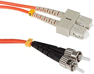 SC to ST Mode Conditioning 62.5/125 OM1 Fiber Patch Cable, 2 Meters