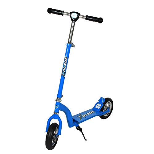 Fun Ride Kids Scooter Xblade 2 Wheel Kick Scooters for Boys and Girls with Adjustable Height and Rear Suspension Brake, 2 Wheels Skate Weight Capacity Upto 50 Kg, Ideal Baby Age 3 Years+ (Blue)
