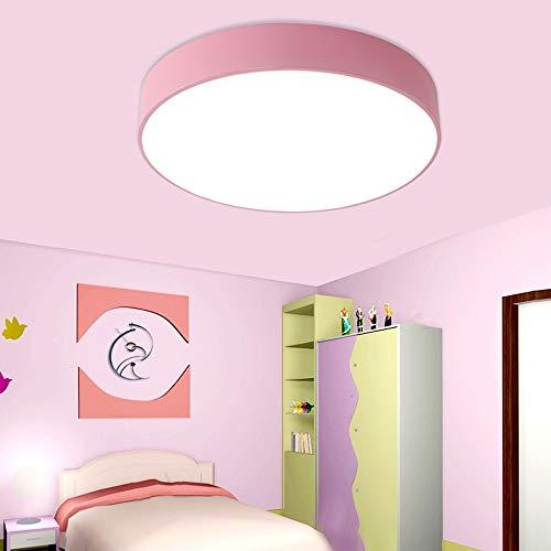 Minimalista Moderno Color Redondo LED Protección Para Los Ojos Acrílico Lámpara De Techo De Bajo Consumo De Energía Habitación Para Niños Dormitorio Luz Corredor Yang1mn (Color : Pink)
