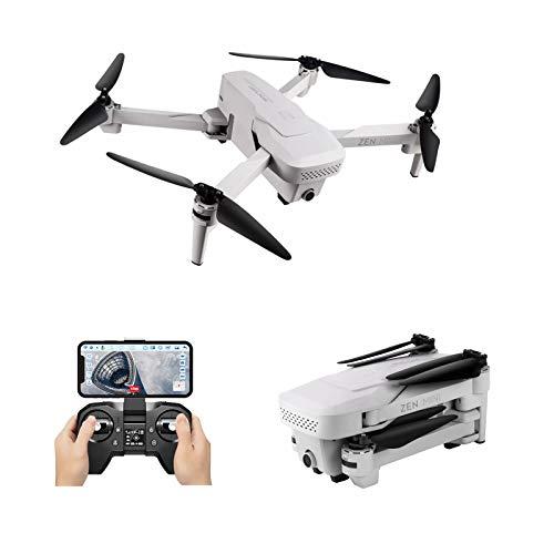Hunpta @ Drohne mit Kamera, Visuo XS818 Zen Mini GPS Drohne mit 5G WiFi FPV 4K HD Doppelkamera RC Quadcopter mit Optischem Durchfluss, Drone und Zubehör Set, Flugzeit 15 Minuten (2 Batterie)