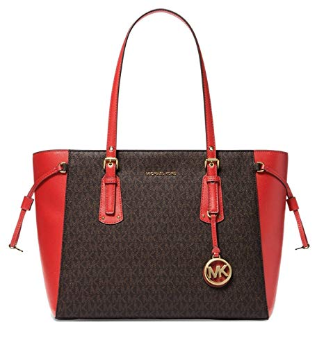 Michael Kors Women's Voyager Tote (Brown/Brandy)