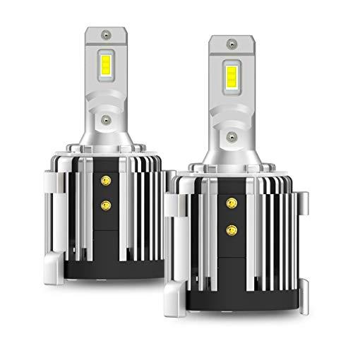 H7 LED Headlight Bulbs with Adapter for VW Golf Passat GTI, Plug n Play