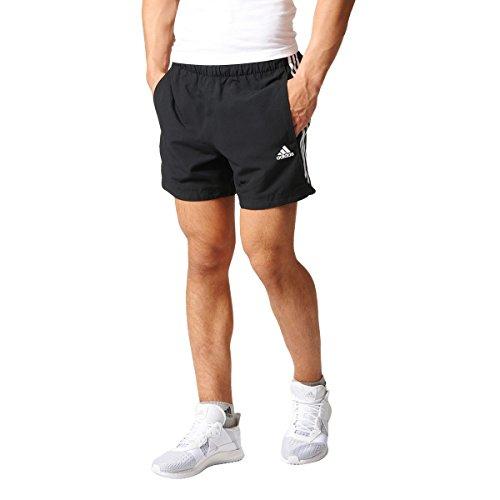 adidas ESS 3S Chelsea - Pantalón corto para hombre, color negro / blanco, talla S