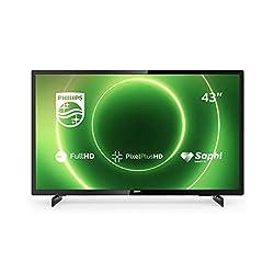 Philips TV 43PFS6805/12 43 Zoll Fernseher (Full HD LED TV, Pixel Plus HD, HDR 10, Saphi Smart TV, Full-Range-Lautsprecher, 3 x HDMI, 2 x USB, Ideal für Gaming) - Schwarz Glänzend [Modelljahr 2020]