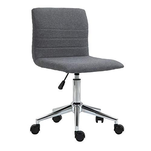 SVITA Linus Schreibtischstuhl Kinder Drehstuhl Stoffbezug Grau