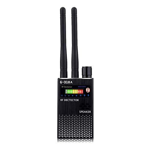 Detector de Señal Anti-Espía Detector de señal GPS Detector de Señal Espía Detector de Cámara Inalámbrica Detector de RF Buscador de Dispositivos gsm (negro)