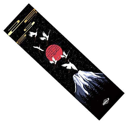 Black Temptation Skateboard Grip Tape Sheet Blasenfrei Peeling-Aufkleber Longboard Verschleißfest Anti-Rutsch #A38