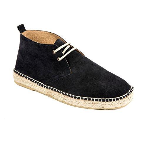 weltenmann | Premium Herren Boots Espadrilles in Wildleder, Navy blau 42