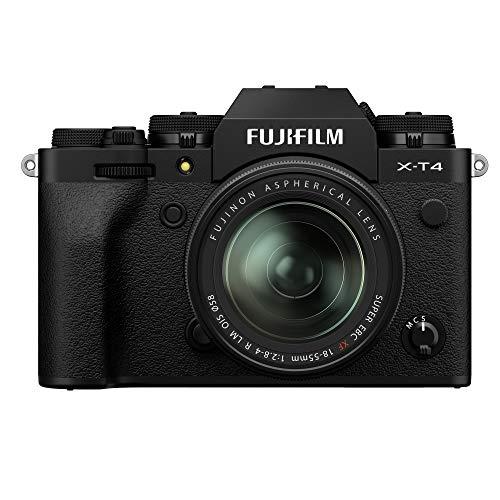 Fujifilm X-T4 Fotocamera Digitale Mirrorless 26 MP con Obbiettivo XF18-55mmF2.8-4 R LM OIS, Sensore X-Trans CMOS 4, IBIS, Filmati 4K 60p, Mirino EVF, Schermo LCD 3  Touch Vari-Angle, Nero