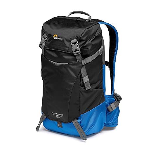 Lowepro PhotoSport BP 15L AW III, Zaino Fotografico da Hiking con Accesso Laterale, Inserto per Fotocamera Mirrorless Rimovibile, Sistema di Cinghie per Accessori, Blu, Compatibile con Sony α6000