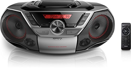 Philips AZ700T CD-Soundmachine (Bluetooth, NFC, USB Direct, 12 Watt) schwarz