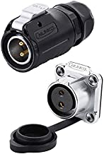 CNLINKO 2 Pin Power Industrial Circular Connector, Male Plug & Female Socket, Fit Furrion RV Solar Port, Outdoor Waterproof IP67, AC DC Signal, Fit Furrion, Grand Design, Forrest River RV Solar Ports
