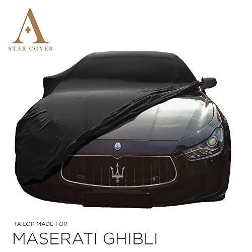 Star Cover Funda DE Coche para EL Interior A Medida Maserati Ghibli   Negro Cubierta DE Coche Interi